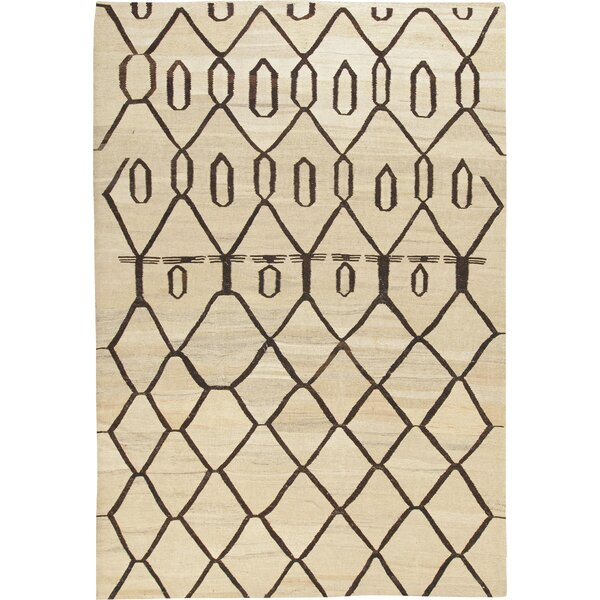 Kilim Dimond Hand-Woven Beige/Brown Area Rug