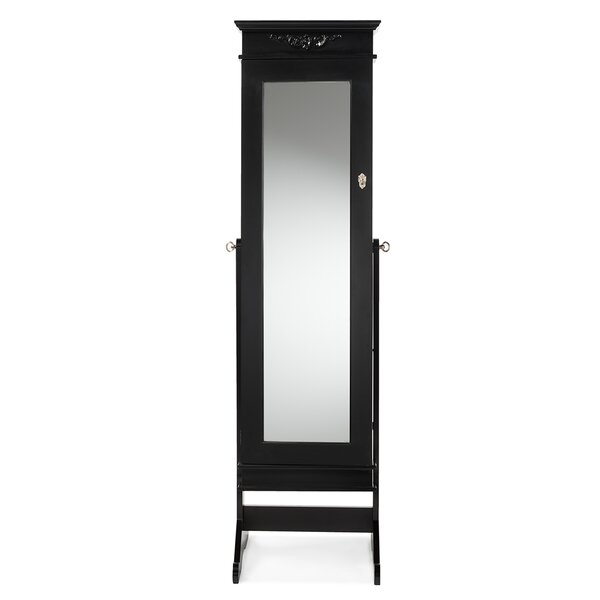 Keele Jewelry Armoire with Mirror by Alcott Hill