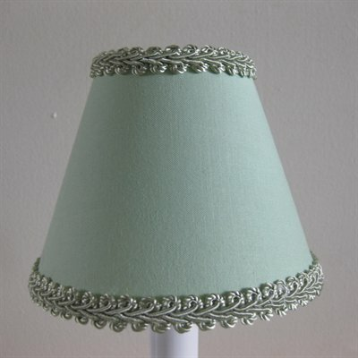 Sage Simplicity 4 H Fabric Empire Candelabra Shade ( Clip On ) in Green
