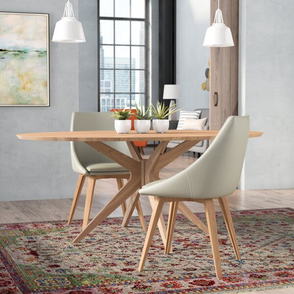 Cordelia Solid Wood Dining Table by Modern Rustic Interiors