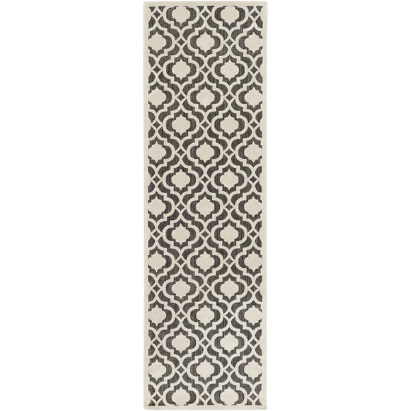 Countryman Ivory/Black Indoor/Outdoor Area Rug by Charlton Home