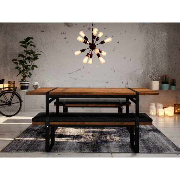 Langer Upholstered Bench by Union Rustic