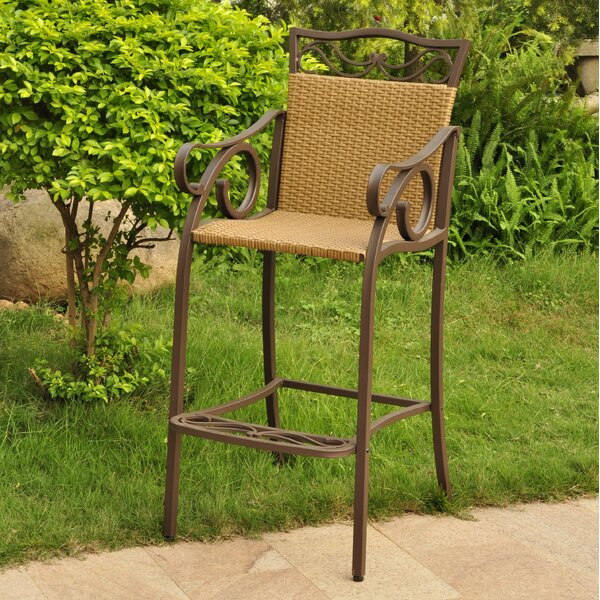 Meetinghouse 49 Patio Bar Stool (Set of 2) by Three Posts