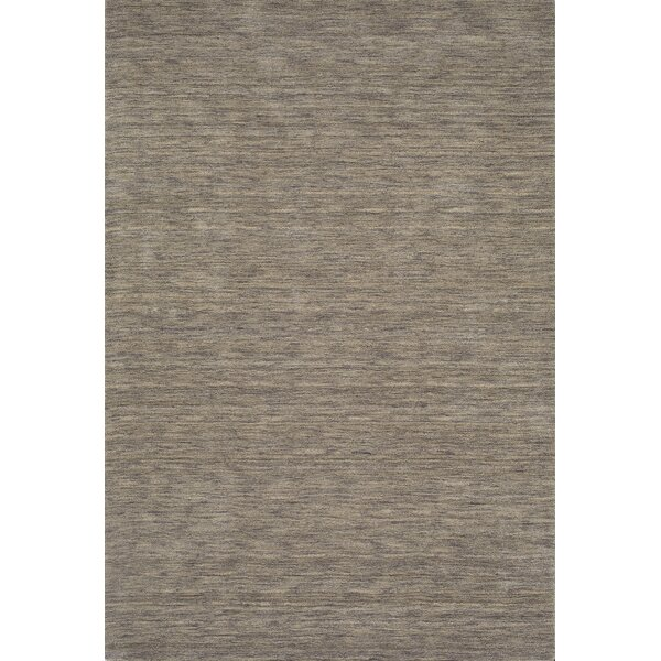 Toby Hand Woven Wool Granite Area Rug by Corrigan