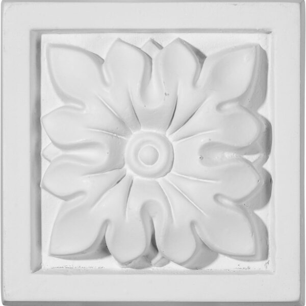 3 1/2H x 3 1/2W x 1 1/4D Floral Plinth Block by Ekena Millwork