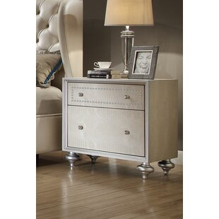 Comparison Aveliss 2 Drawer Nightstand by Rosdorf Park
