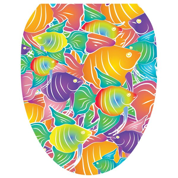 Fish Frenzy Toilet Seat Decal by Toilet Tattoos