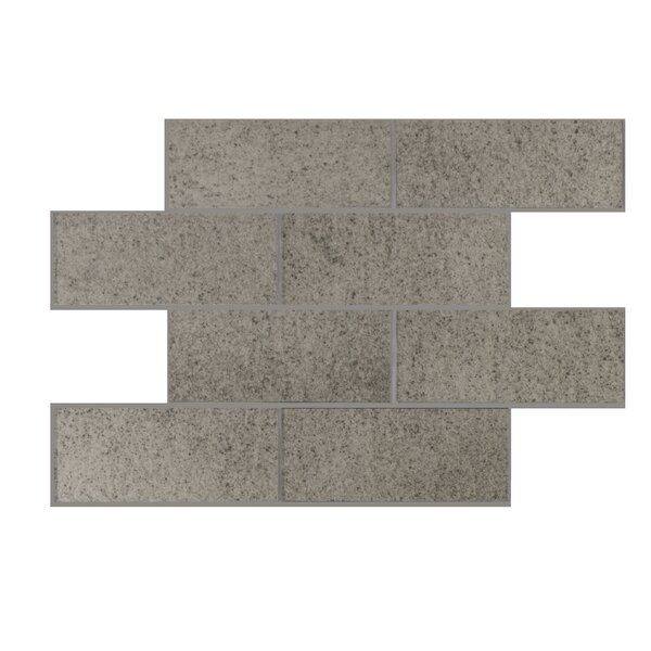 Antique Mirror Series 3 x 6 Glass Mosaic Tile in Glossy Dark Silver by WS Tiles