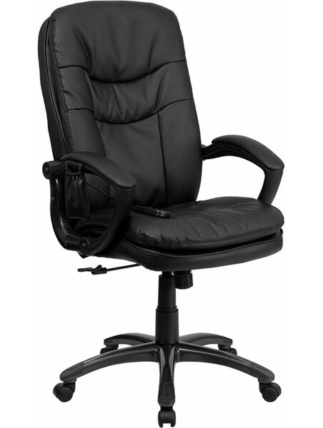 Kruger High-Back Massaging Ergonomic Executive Chair by Symple Stuff