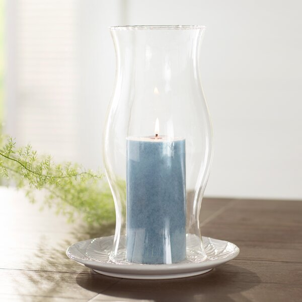 Glass Hurricane by Beachcrest Home