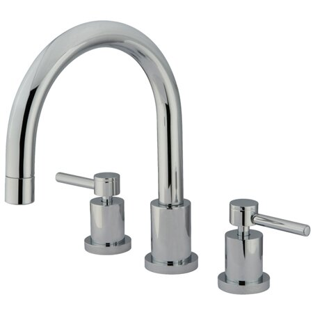 South Beach Double Handle Roman Tub Filler by Elements of Design