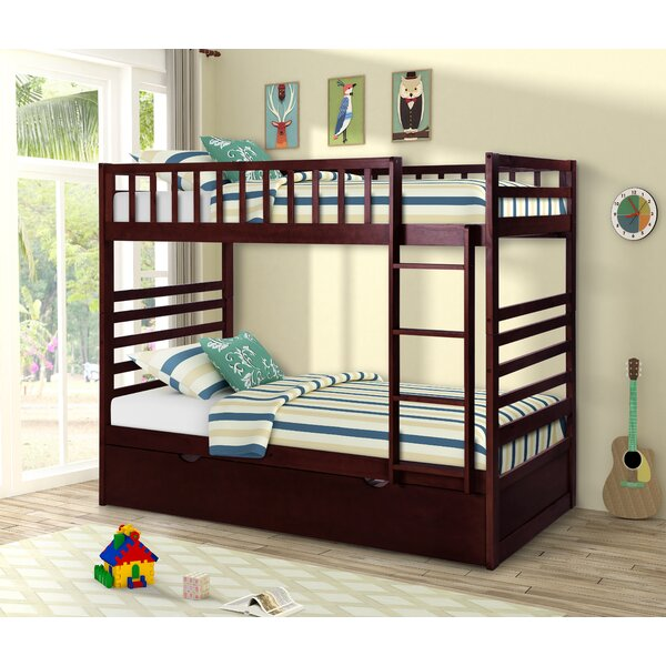 Karine Twin Over Twin Bunk Bed with Drawers by Harriet Bee