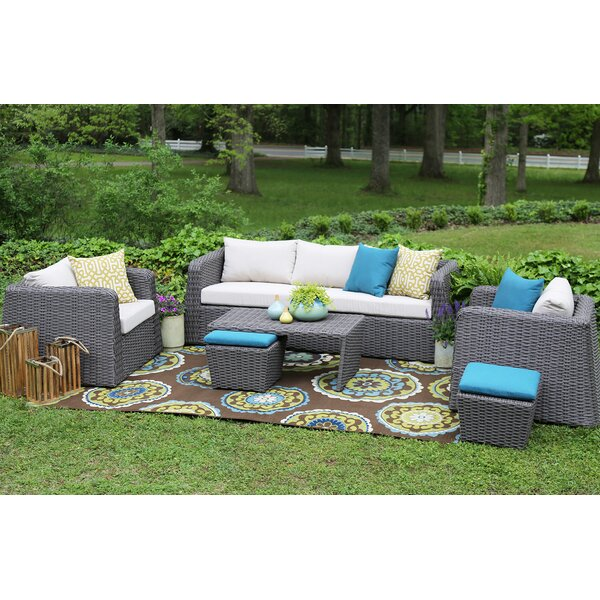 Kitalpha 6 Piece Sunbrella Sofa Set with Cushions by Brayden Studio