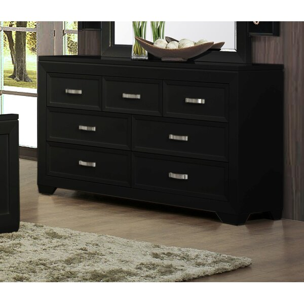 Ellington Circle 7 Drawer Double Dresser by Red Barrel Studio