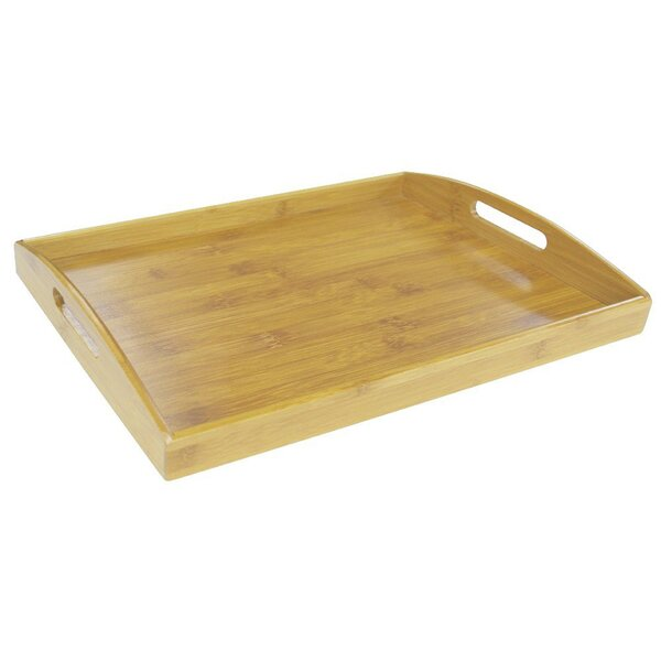 Natural Bamboo Serving Tray by Sweet Home Collection