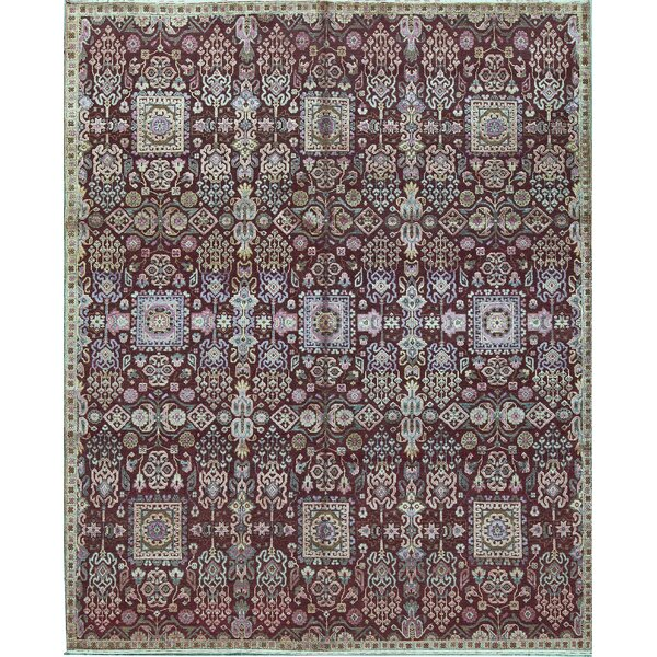 Kendale Oriental Hand-Knotted Red Area Rug