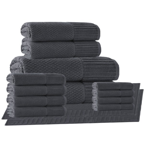 Belcourt 14 Piece Turkish Cotton Towel Set by Wade Logan