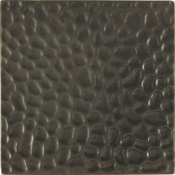 4 x 4 Metal Decorative Accent Tile in Hammered Dark Bronze (Set of 4) by The Copper Factory