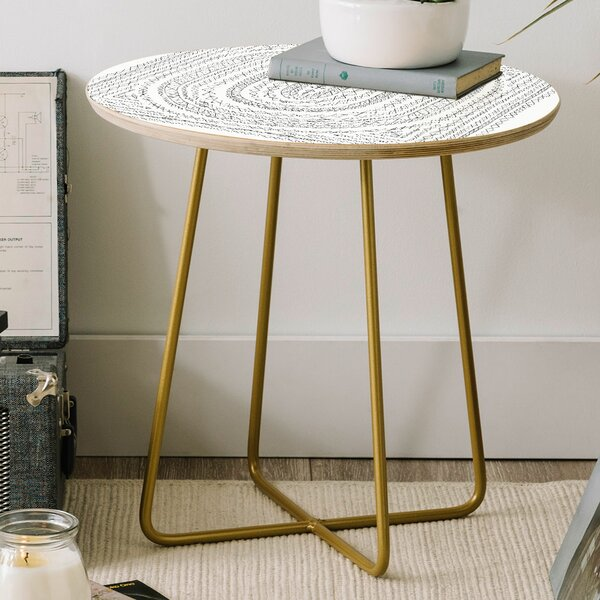 Dash and Ash Sleepy Dream Catcher Round End Table by East Urban Home