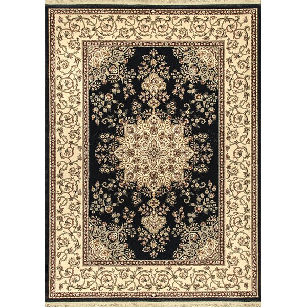 Cirro Oakland Wool Black/Beige Area Rug by Dynamic Rugs