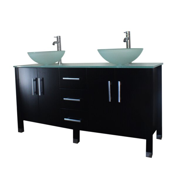 Sedillo 59 Double Bathroom Vanity Set with Mirror by Latitude Run