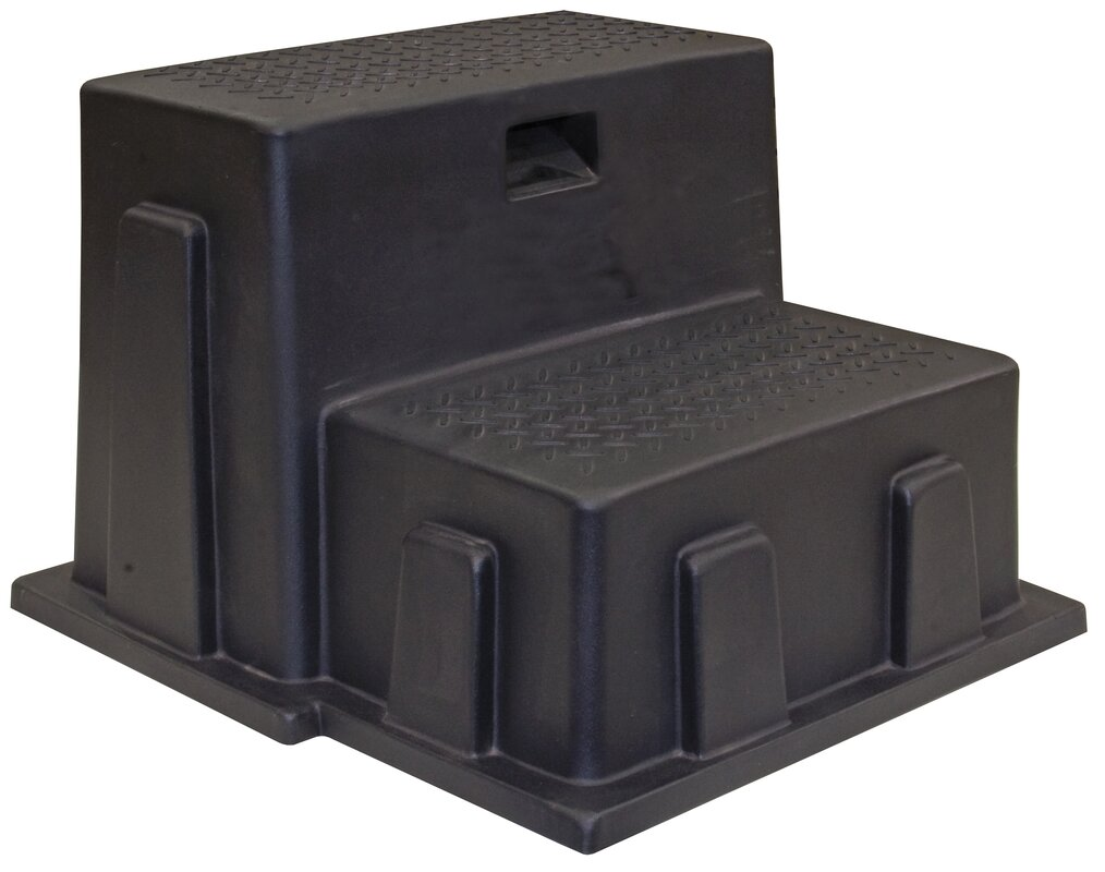 2-Step Plastic All-Purpose Utility Step Stool with 350 lb. Load Capacity  sc 1 st  Wayfair & Buyers Products 2-Step Plastic All-Purpose Utility Step Stool with ... islam-shia.org