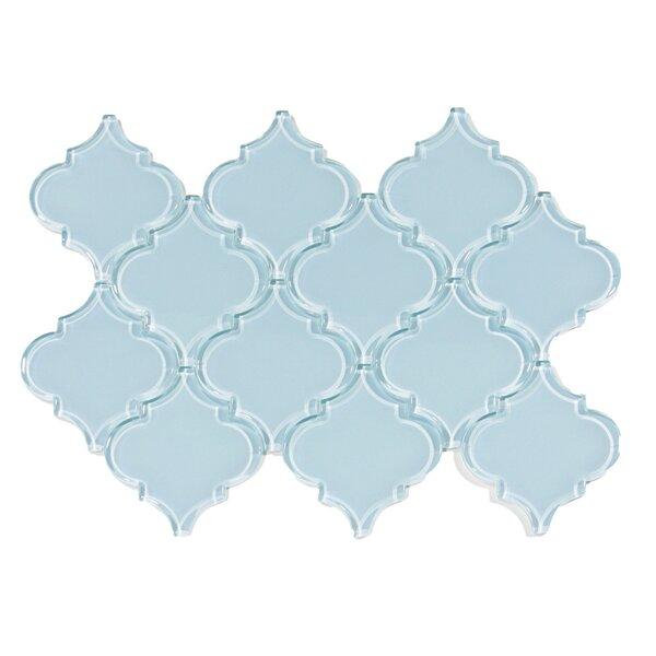Hydrogen Arabesque 3 x 3 Glass Mosaic Tile in Vapor by CNK Tile