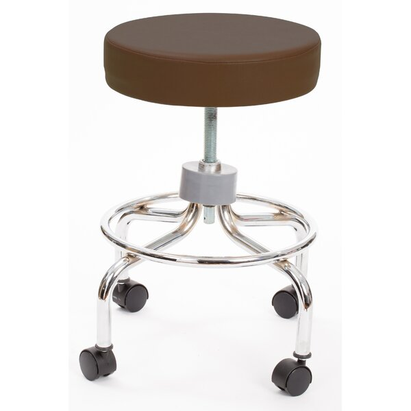 Callista Height Adjusts Revolving Stool with Footrest