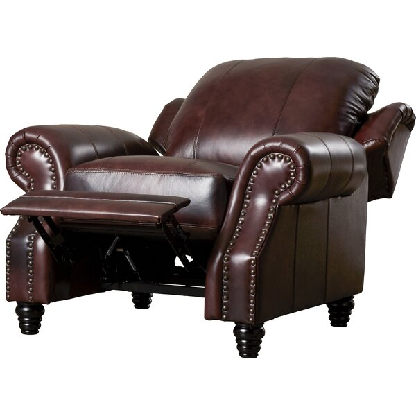 Rosetta Leather Wing Recliner by Darby Home Co