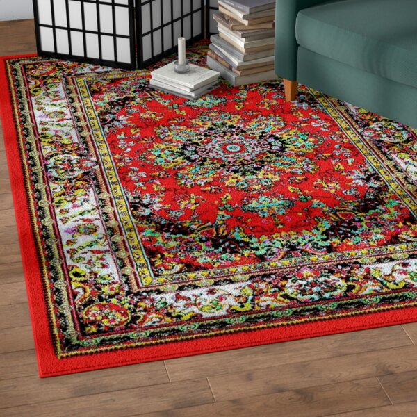Dunlap Red Indoor/Outdoor Area Rug by World Menagerie