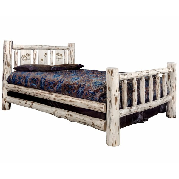 Antigo Laser Engraved Moose Standard Bed by Millwood Pines Millwood Pines