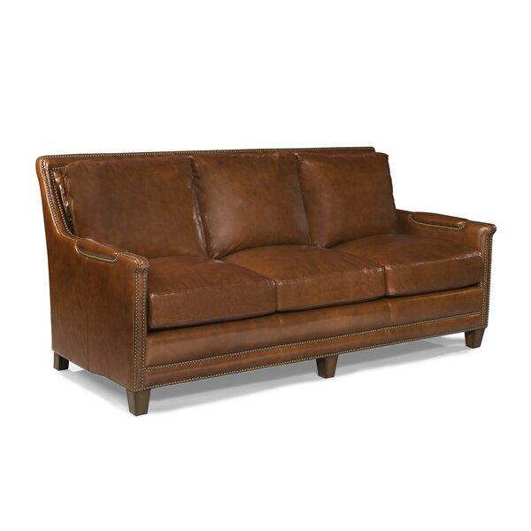 Edward Genuine Leather Square Arm Sofa By Loon Peak