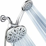 High Pressure Multi Function Dual Shower Head by AquaDance®