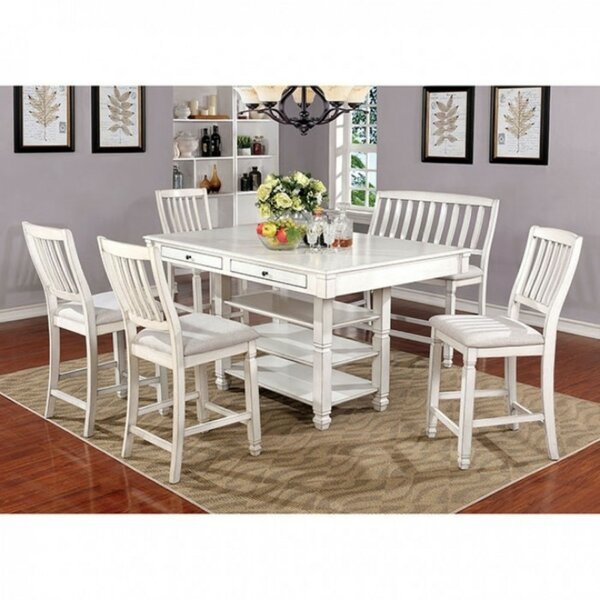 Halima Transitional 7 Piece Pub Table Set by August Grove