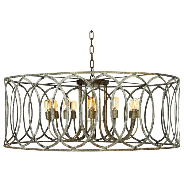 New Orleans 12-Light Candle Style Drum Chandelier By Ellahome