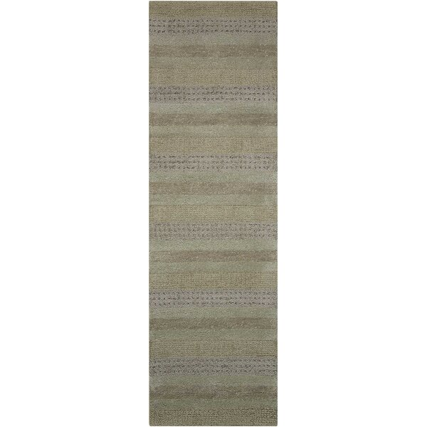 Sequoia Striped Hand-Knotted Wool Stream Area Rug