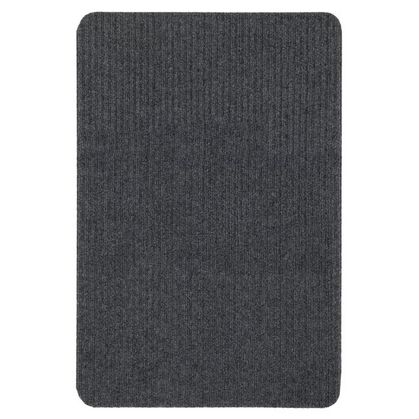 Windrim Ribbed Dark Gray Indoor/Outdoor Area Rug by Red Barrel Studio