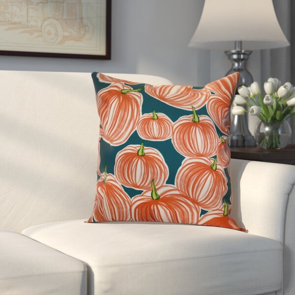Miller Pumpkins-A-Plenty Geometric Outdoor Throw Pillow by Alcott Hill