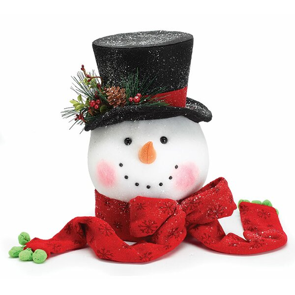 Snowman Head Tree Topper (Set of 2) by The Holiday Aisle