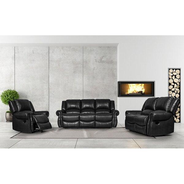 Review Carte 3 Piece Reclining Living Room Set