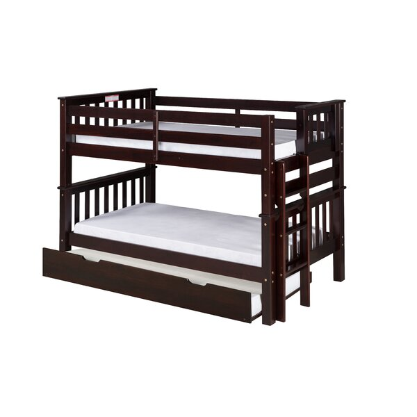 Lindy Mission Twin over Twin Bunk Bed with Trundle by Harriet Bee