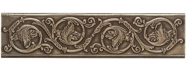 Accent Statements Metal 3 x 12 Scrolling Leaf Decorative Border in Vintage Bronze by Mohawk Flooring