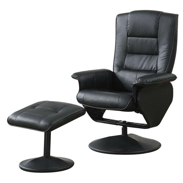 Capavella Swivel Wingback Chair and Ottoman by Latitude Run