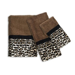 Newburn Animal Print 3 Piece Towel Set