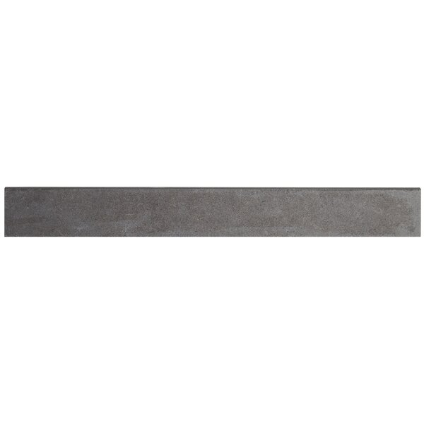 Haut Monde 24 x 3 Porcelain Bullnose Tile Trim in Empire Black by Daltile