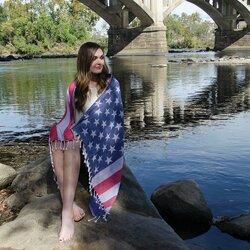 American Flag Turkish Cotton Beach Towel by Harriet Bee