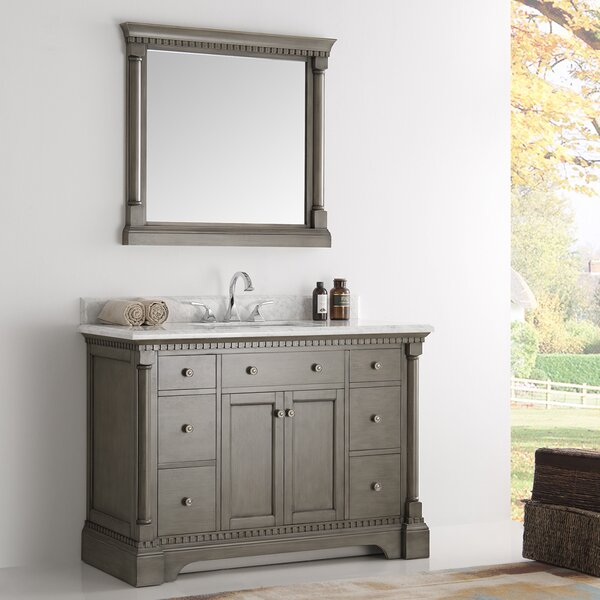 Kingston 49 Single Bathroom Vanity Set with Mirror by Fresca