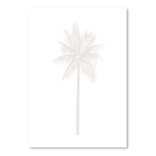 Beige Palm Poster Gallery Graphic Art by Bay Isle Home