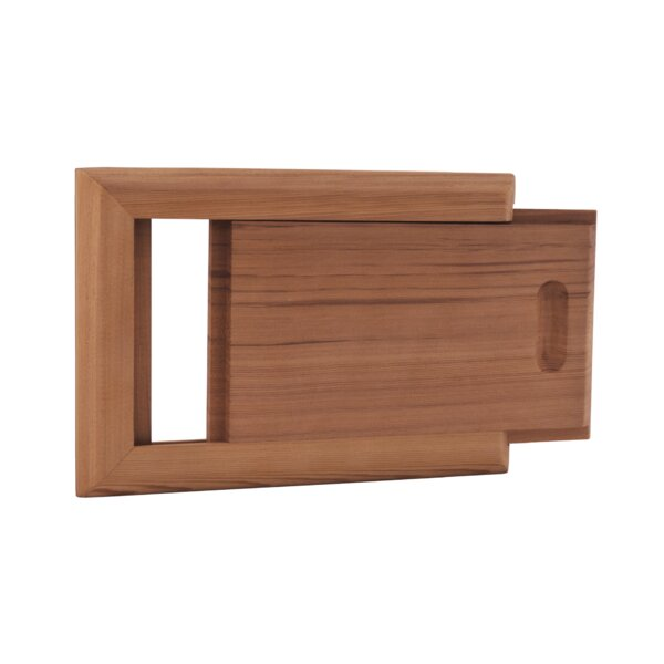 Cedar Slide Air Vent by Premium Saunas