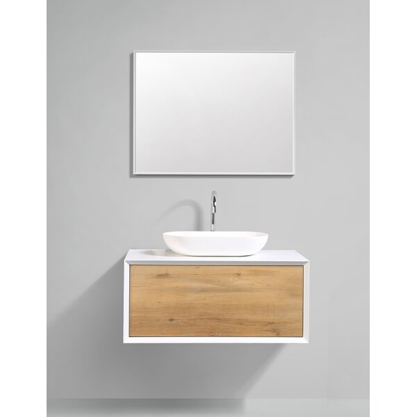 Grissett 35 Wall-Mounted Single Bathroom Vanity Set by Orren Ellis